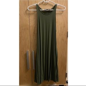 Green flowy dress with pockets on the side!